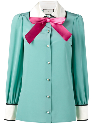 Gucci Long Sleeve Pussy Bow Blouse Tops