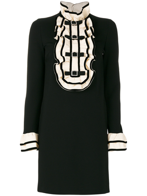 Gucci Ruffled Front Dress in Black Dresses