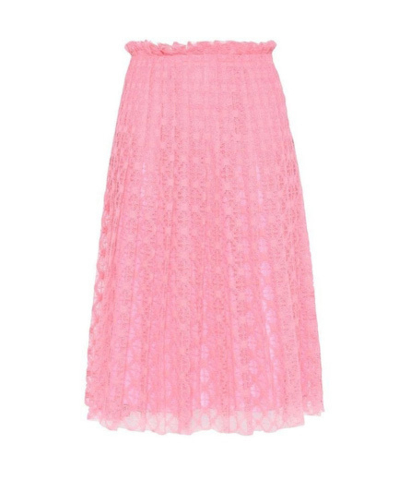 Philosophy Lace Pleated Skirt in Pink Skirts