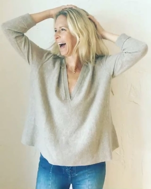 Inhabit Drapey V Neck Sweater Tops