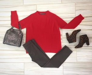 Doffer L'Agence Loeffler Randall Stella McCartney Funnel Neck Top, Leather Legging & Accessories Bags Pants Shoes Tops