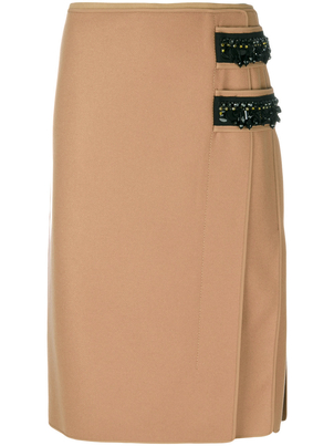N°21 Contrast Emebellished Pencil Skirt Skirts