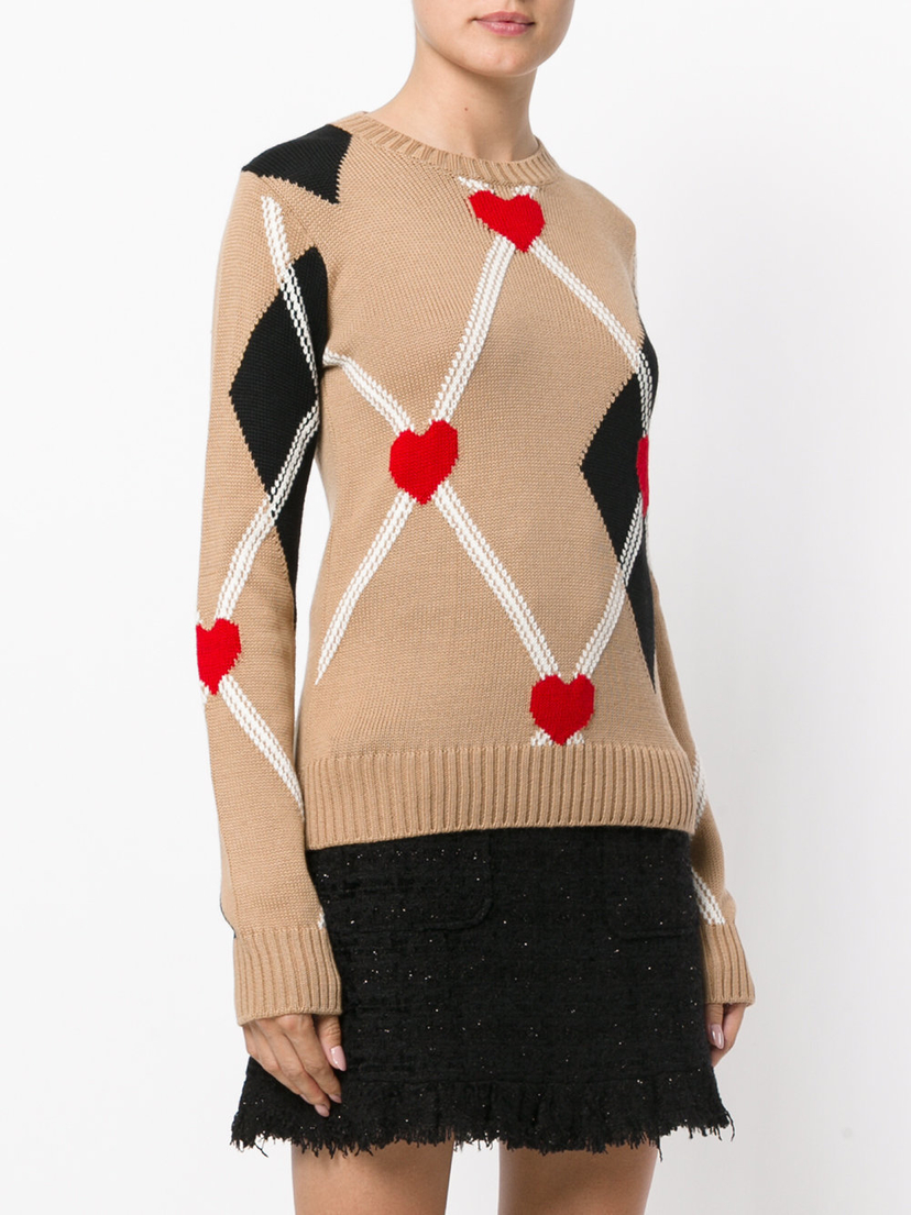MSGM Diamond Pattern Jumper Tops