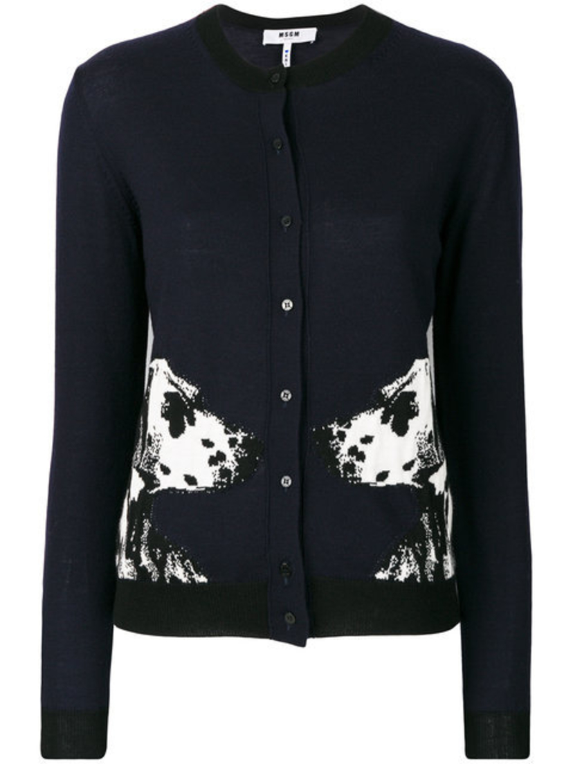 MSGM Dalmation Embroidered Cardigan Tops