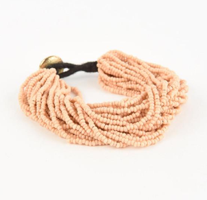 Ink + Alloy Seed Bracelet- Pink Holiday Jewelry