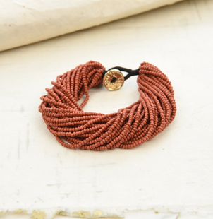 Ink + Alloy Seed Bracelet- Terra Cotta Holiday Jewelry