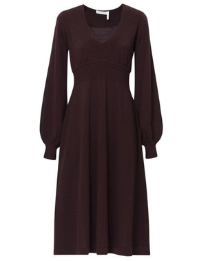 Chloé V Neck Wool Dress Dresses Tops