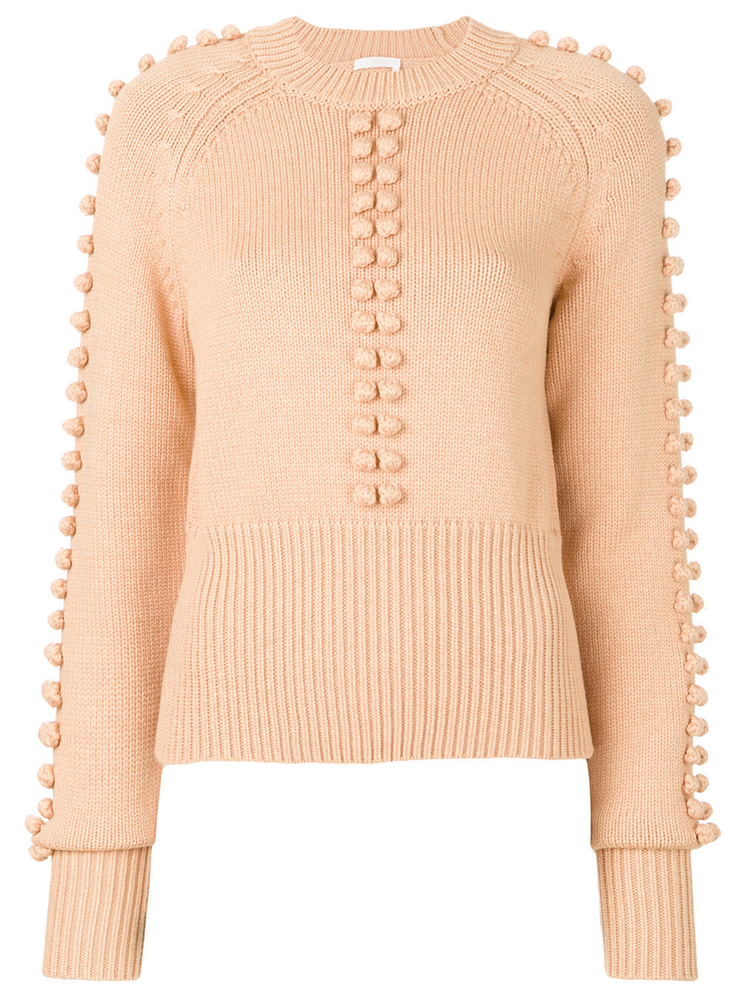 Chloé Knitted Bobble Sweater Sale Tops