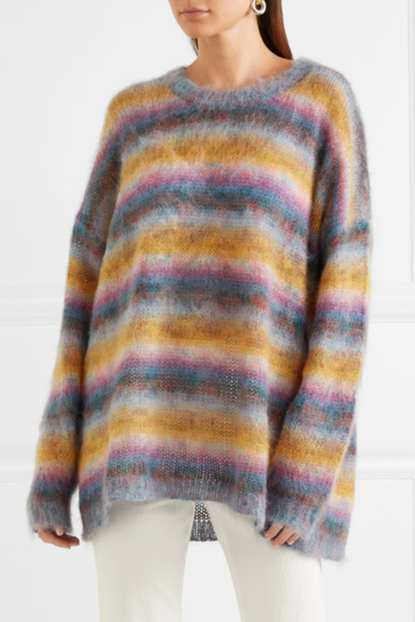Chloé Mohair Wool Striped Sweater Tops
