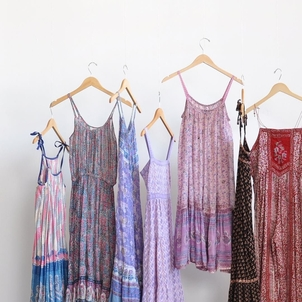 Strappy, sleeveless Indian cotton dresses