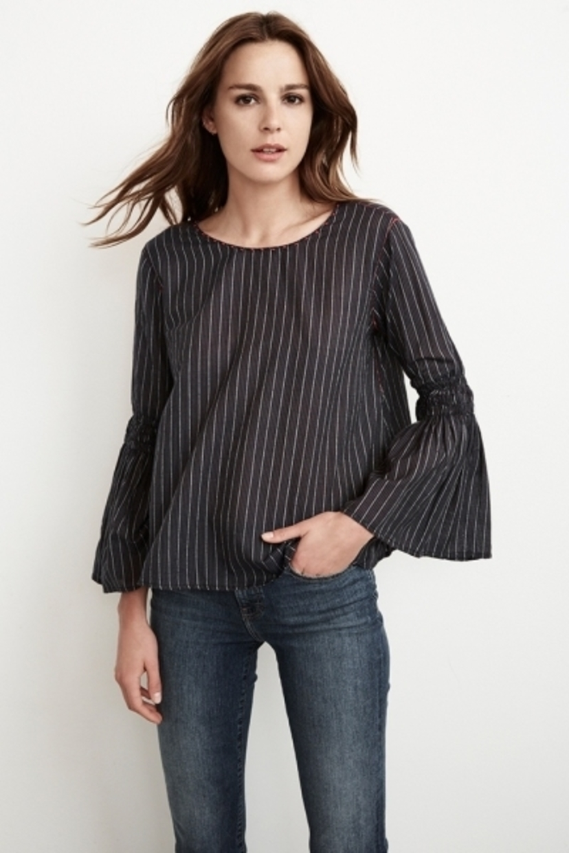 Velvet Chan Bell Sleeve Top Tops
