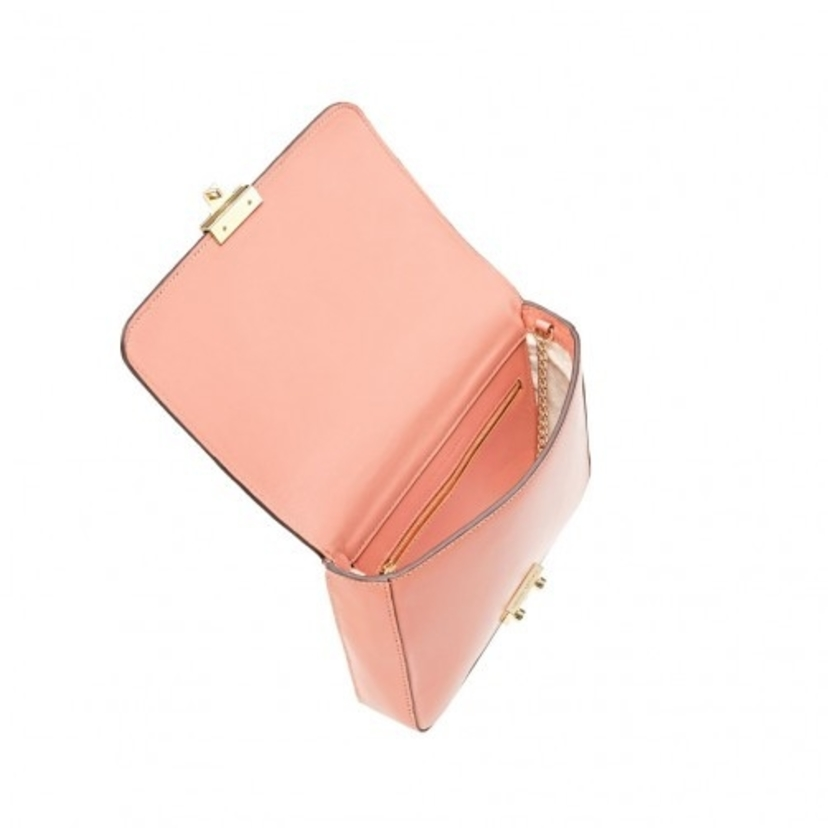 Loeffler Randall Lock Shoulder Bag in Dusty Rose Bags