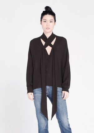 Wilt Scarf Neck Blouse Tops