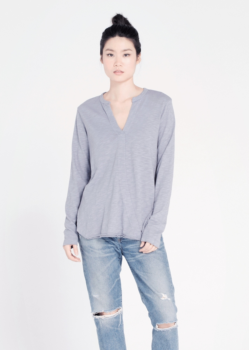 Wilt Shrunken Henley Shirttail Tee Tops