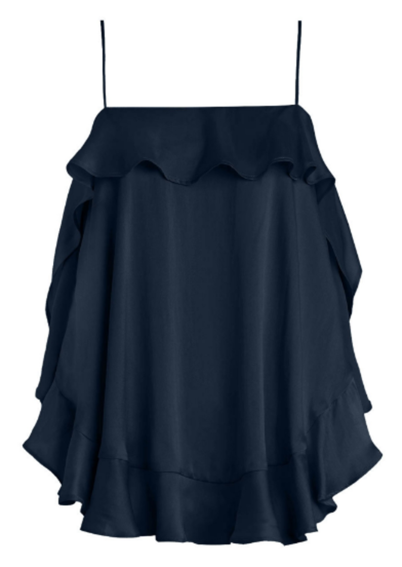 Zimmermann Flounce Cami in French Navy Tops