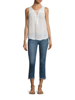 McGuire Denim Kaia Lace Up Top Sale Tops
