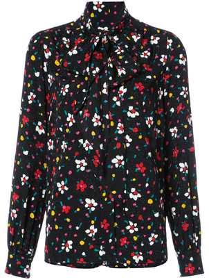 Marc Jacobs Floral Neck Tie Blouse Tops