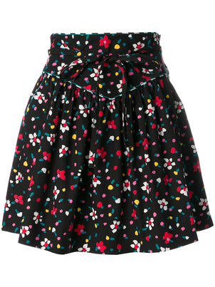 Marc Jacobs Poplin Floral Mini Skirt Skirts