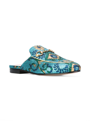 Gucci Princeton Brocade Mules Shoes