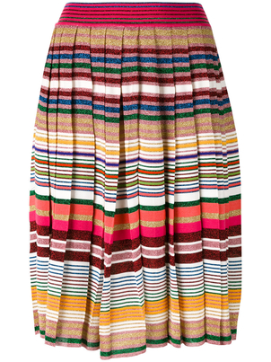 Gucci Multicolored Pleated Skirt Skirts