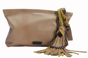 Embrazio Catina Leather Metallic Wristlet Bags