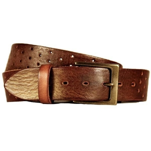 Embrazio Perforata Curved Handmade Leather Belt Accessories