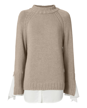 Brochu Walker Remi Layered Pullover - Jutel/White Tops