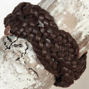 Embrazio Mezza Luna Handmade Leather Bracelet - Mink Jewelry