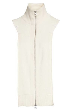 Veronica Beard Cashmere Uptown Dickey in Ivory Accessories