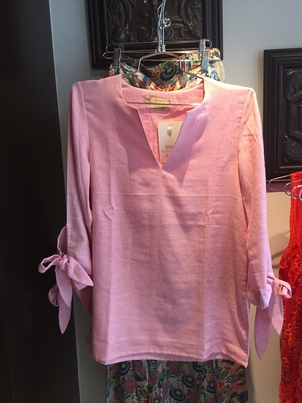 Rungolee Pink Tie Sleeve Top Home decor