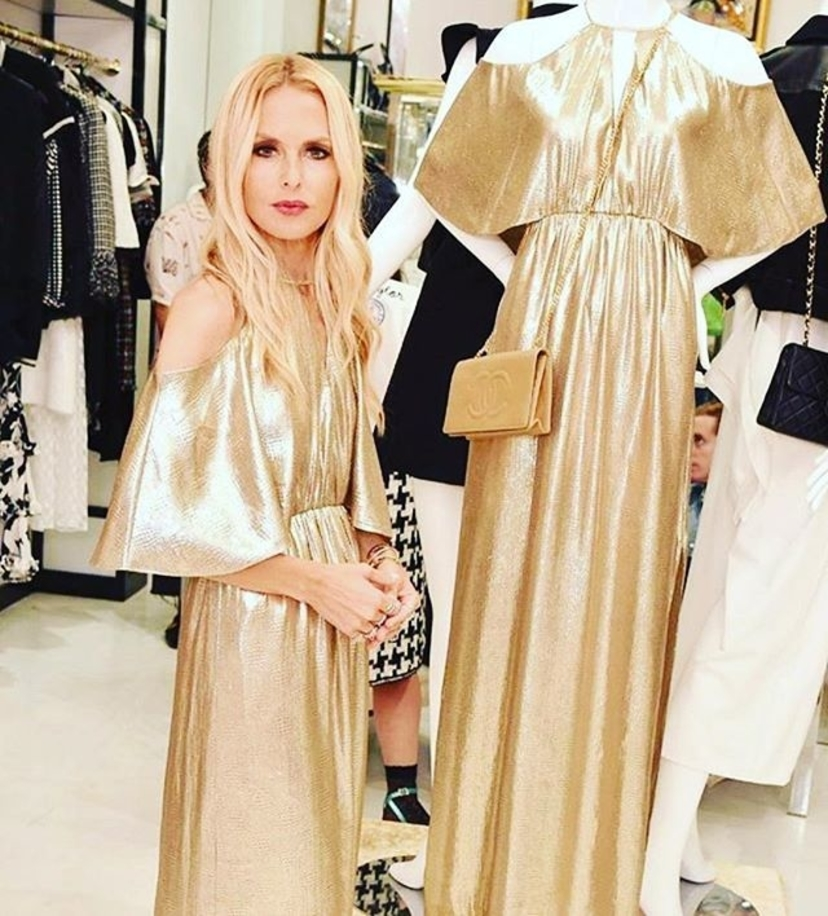 Go for the gold in the Marlene gown.