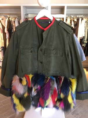 Harvey Faircloth Field Jacket with Fur Outerwear