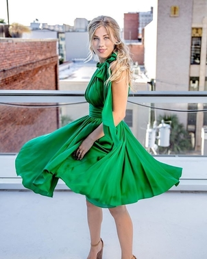 Milly Green Milly Dress Dresses