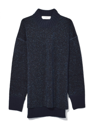 Pringle of Scotland Lux Double Faced Sweater in Midnight Melange Tops