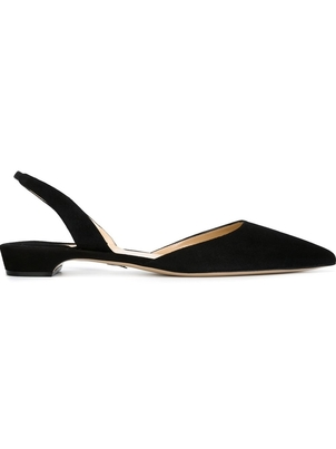 Paul Andrew Paul Andrew Black Slingback Flats Shoes