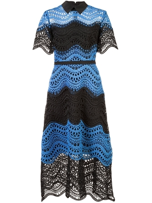 Lela Rose Lela Rose Embroidered Flared Dress Dresses