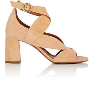 Chloé Graphic Leaves Suede Sandals Shoes