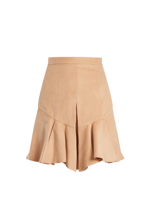 Isabel Marant Parma pleated faux-suede skirt Skirts