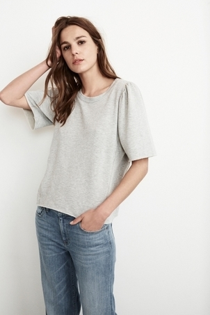 Velvet Astley Fleece Puff Sleeve Top Tops
