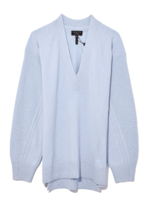 rag & bone Ace Cashmere V-Neck in Blue Tops