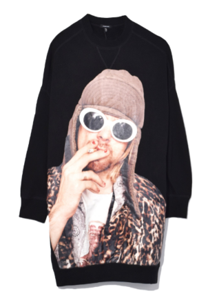 R13 Oversized Kurt Sweatshirt in Black Tops