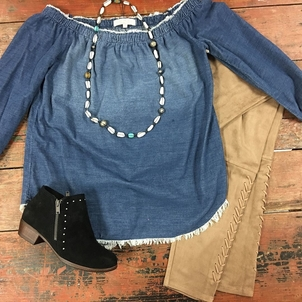Love Tokens Jewelry Lyssé Minnetonka Side Stitch Suede, Leather & Denim Jewerly Pants Shoes Tops
