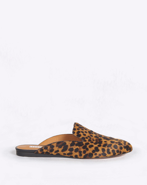 Veronica Beard Grey Mule in Leopard Shoes