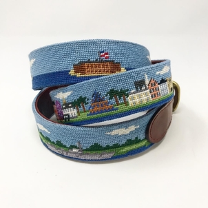 Smathers & Branson Charleston Waterfront Needlepoint Belt Accessories