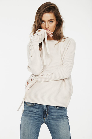 McGuire Denim Bamber Lace Up Sweater Tops