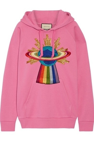 Gucci Pink Hoodie Activewear Outerwear