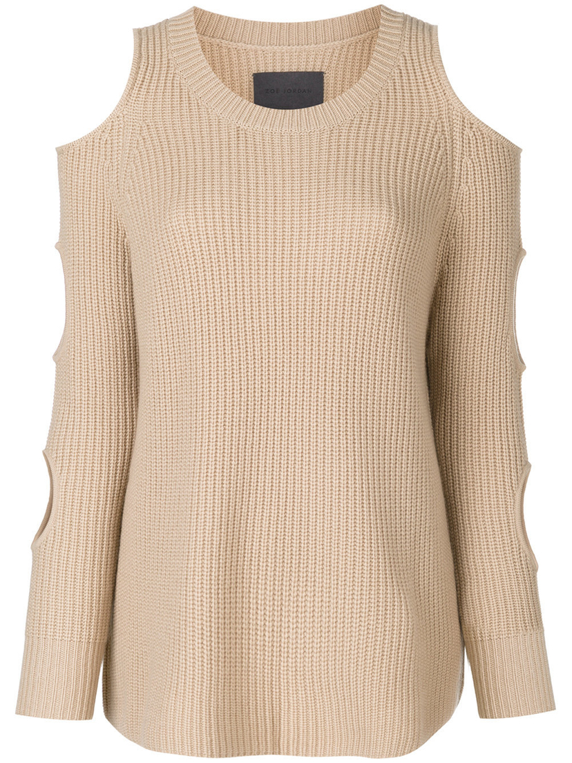 Zoë Jordan Galileo Sweater in Stone Tops