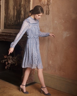 Needle & Thread Marianne Dress in Vintage Blue Dresses