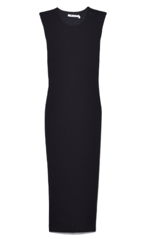 T by Alexander Wang Stretch Faille Ponte Sleeveless Dress in Black Dresses Tops