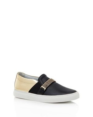 Lanvin Lanvin Sneaker Gold Chain/Black Shoes